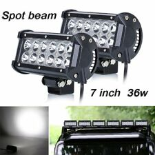 2 X 36W CREE LED Work Light Bar Offroad Spot Beam for Truck SUV Boat Lamp ATV