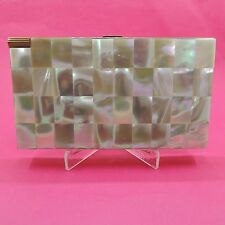 Vintage Mother of Pearl Volupte' Cigarette Case / Compact/Mirror/Lipstick