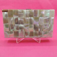 Vintage Mother of Pearl Volupte' Cigarette Case / Compact/Mirror/Lipstick