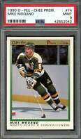 1990-91 o-pee-chee premier #74 MIKE MODANO dallas stars rookie card PSA 9