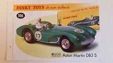 Dinky Toys Atlas - Fascicule SEUL de l' Aston Martin DB3 S (Booklet only)