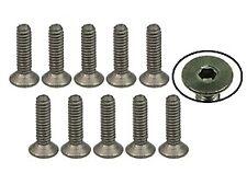 TS-FSM208M 3Racing M2 x 8 Titanium Flat Head Hex Socket - Machine (10 Pcs)