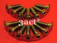 14 Gold M8 x 30mm Hot Forged Titanium / Ti Bolts - Kawasaki Disc Brake Rotor
