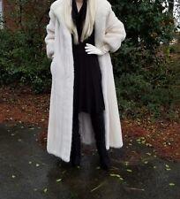 Tourmaline Ivory Blond Pearl Vanilla shade long 51 inch mink fur coat,sz.L