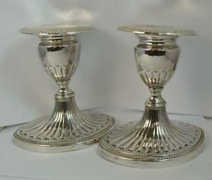 Antique 1786 Georgian Pair of Candlesticks by John Parsons