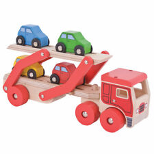 Bigjigs Toys Wooden Transporter Lorry Vehicle Play Set with Cars