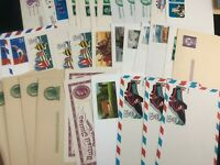 Over 35 Unused New Pre Paid Stationary USPS Postcards Olympics Historic Events