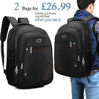 2 X 29 Litre Wall Street Business Laptop Backpack Rucksack Bag Travel Luggage X2