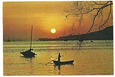 "China Hong Kong postcard ""Sun set"" to Australia 1968"