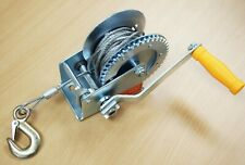 1200LB H.D. Hand Winch Gear Steel Cable ATV Towing Trailer Boat