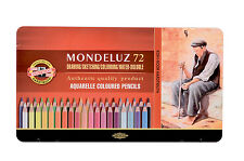 Pack of 72 Koh-I-Noor Mondeluz Hexagonal Water Coloured Pencils