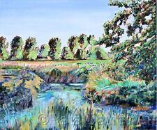 "NUOVO Pete Davies originale ""una fattoria nel West Sussex"" COUNTRY LIFE DIPINTO AD OLIO"