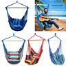 Hammock Hanging Rope Chair Swing Chair Seat w/2 Pillows for Polyester Garden Use