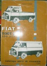 *  Fiat 1100 T2 Furgone 217A  Catalogo Parti di Ricambi 1961 Ersatzteilkatalog