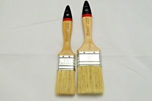 """1.5"""" and 2"""" Pure Bristle Paint Brushes, Master Line, Natural Long Bristles."""