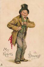 VALENTINE'S DAY – My Heart's Dearest Tuck Postcard – udb (pre 1908)