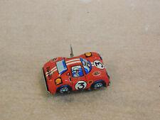 "JAPAN Vintage Tin Toy Sanko Wind Up Auto Turn 3"" Red FERRARI Sports Race Car"