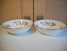 Minton Meadow Smooth gold edge floral China 2 small bowls