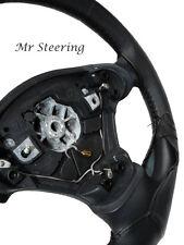 Se adapta a Mitsubishi Triton 2005-2014 Real Negro Cuero Italiano cubierta del volante