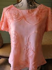 Cimmaron Dress Sz 10 Floral Swirl Blouse