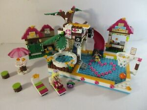 LEGO FRIENDS 41008 HEARTLAKE CITY POOL 100% Complete with Mini-dolls & Spares