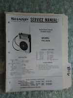 sharp fx 209 a service manual original repair book radio solid state rh ebay com Sharp FX Werewolf Sharp FX Plus Specs