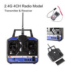 Flysky 2.4G FS-T4B 4CH Radio Model RC Transmitter with Receiver for RC Car I7O7