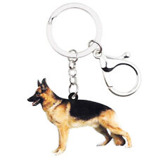 Acrylic German Shepherd Dog KeyChain Ring For Women Wallet Holder Jewelry Charms