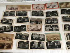30 Antique Stereo View Mixed Military Theatre and MORE Lot E