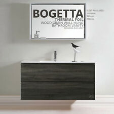 BOGETTA 1200mm Oak Grey THERMAL FOIL Timber Wood Grain Wall Hung Bathroom Vanity