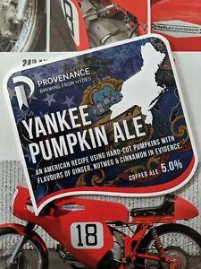 Yankee Pumpkin Pale Ale Beer Pump Badge, Copper Ale, Provenance, Man Cave Shed,