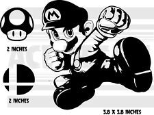 Super Smash Bros. Ultimate - Super Mario - 3 pack - Nintendo - decal sticker