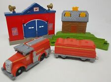 Thomas Train & Friends FIERY FLYNN'S RESCUE TRACKMASTER Fire Truck & Set Pieces