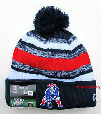 NE Patriots Throwback Champions Beanie Winter Hat Authentic Sports Knit Cap