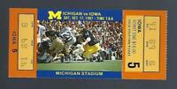 1987 NCAA IOWA HAWKEYES @ MICHIGAN WOLVERINES FULL UNUSED FOOTBALL TICKET