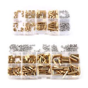 300pc M2/M3 Brass Hex Column Standoff Spacer Screw Nut Assortment Kit w/ Box New