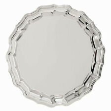 """12"""" (30cm) Silver Plated Salver Chippendale style design - New"""