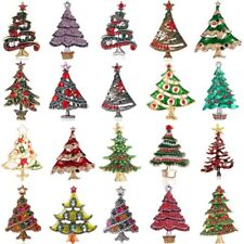 Fashion Christmas Tree Crystal Brooch Pin Womens Costume Jewellery Party Gifts