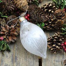 LIGHT Up satinato bianco Led da appendere albero di Natale decorazione pallina ~ Teardrop
