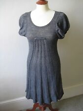 Antik Batik grey knitted short-sleeved dress alpaca/wool/acrylic mix dress, S