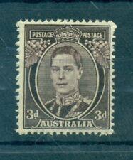 RE GIORGIO VI - KING GEORGE VI AUSTRALIA 1937/1949 Common Stamp 3d Purple brown