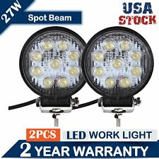 """Pair 5"""" 27W Round LED Driving Light Bar  Multifunction Work Spot SUV Offroad 4x4"""