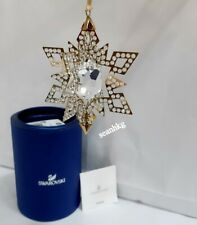 Swarovski 3D Christmas Ornament Star, Gold Tone Crystal Authentic MIB 5135809