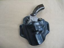 """Smith & Wesson S&W 686, 586  2-3"""" Leather 2 Slot Pancake Belt Holster BLACK LH"""