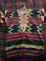 African Tribal Shirt Men Dashiki Print Succinct Hippie Top Blouse Clothing