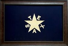Large Texas Flag Framed Aged Real Rustic 40 by 28