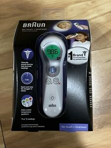 Braun No Touch + Forehead Digital Thermometer NTF3000 White - New
