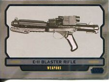 Star Wars Galactic Files 2 Blue Parallel Base Card #620 E-11 Blaster Rifle