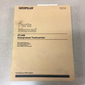 CAT Caterpillar IT18B PARTS MANUAL BOOK LIST TOOLCARRIER WHEEL LOADER 4ZD1-99999