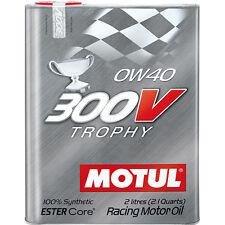Huile Moteur Auto Motul 300V 0W40 Trophy 2L *Frais de port dégressifs*